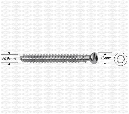 Vis d'os spongieux canulée 4,5mm