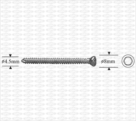 Vis corticale autotaraudeuse 4,5mm