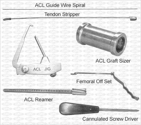 Boîte d'instruments pour LCA