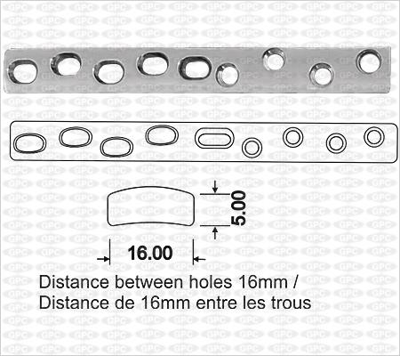 Large plaque de compression à trous ACP