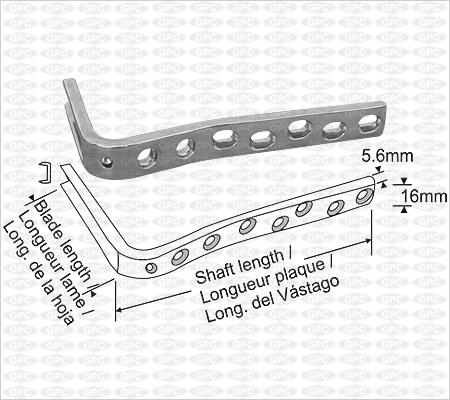Lame plaque condylienne avec un angle de 95°
