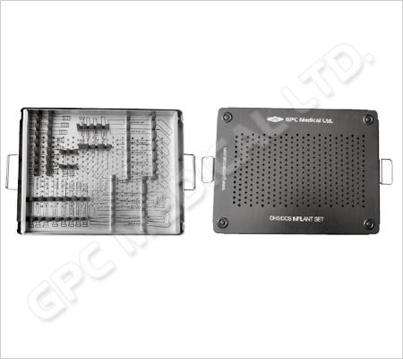 Boîte d'implants de plaques DHS/DCS