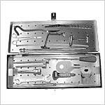 Boîte d'instruments pour clou huméral (canulé)