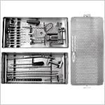 Boîte d'instruments pour clous tibiaux verrouillés, illustrée
