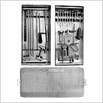 Boîte d'instruments pour clous f moraux verrouillés