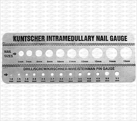 Toise de calibrage pour clou de Kuntscher
