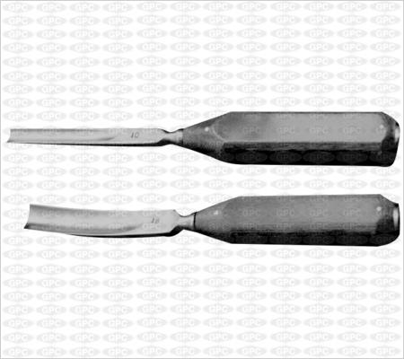 Gouge à manche en fibre droit/courbe