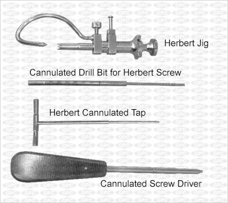 Boîte d'instruments pour vis de Herbert