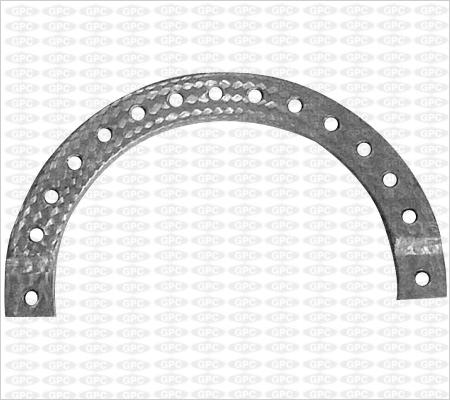 Demi-anneau en fibre charbon