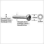 Boulon de verrouillage 3,4mm