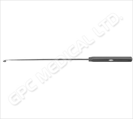 Instrument pour passer la suture, canulé, tout droit, vers la gauche et vers la droite
