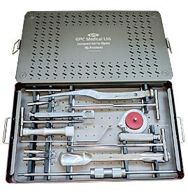 Jeu    d'instruments pour prothèse hip<em>HEAL</em> bipolaire