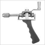 Micro perceuse à main avec mandrin et clé en inox
