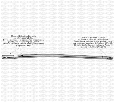 Clou verrouillé multiangle pour tibia