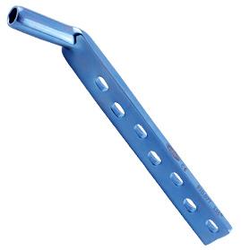Plaque à tube DHS courte, 4,5 mm, 135°