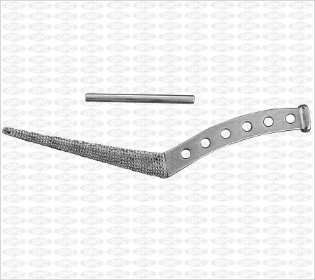Râpe type Thomson avec broche de serrage