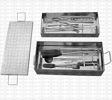 Boîte d'instruments pour vis de pédicule