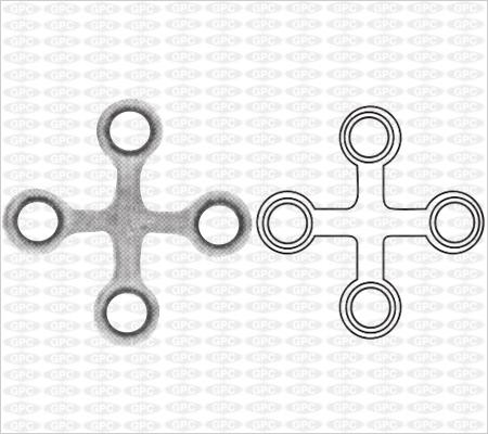 Plaque 2,0 en X