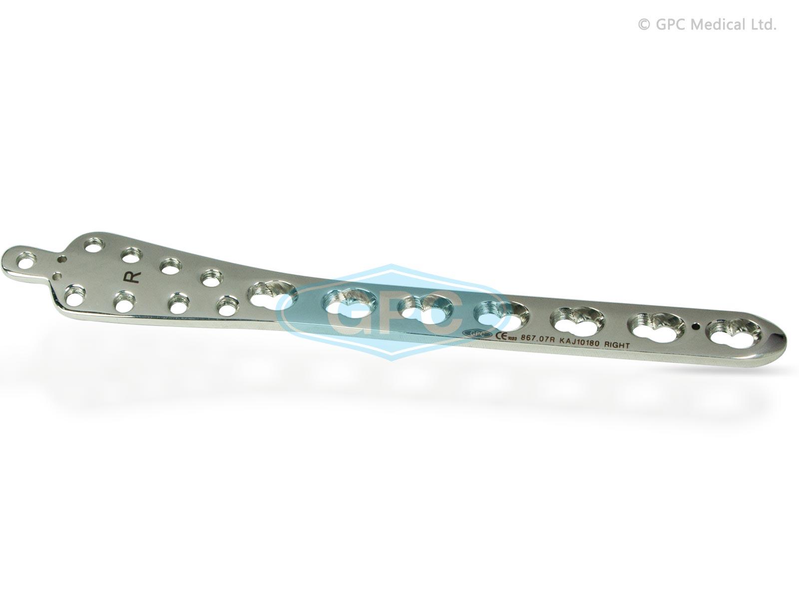 Plaque de verrouillage pour l'extrémité du tibia distal interne